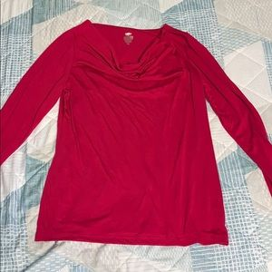 Long-Sleeve Scoop-Neck Tshirt